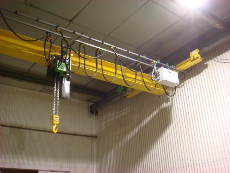 Poutre suspendue 2T avec palan électrique à chaine, ponts roulant standard, ponts roulants standard Cornebarrieu, ponts roulants