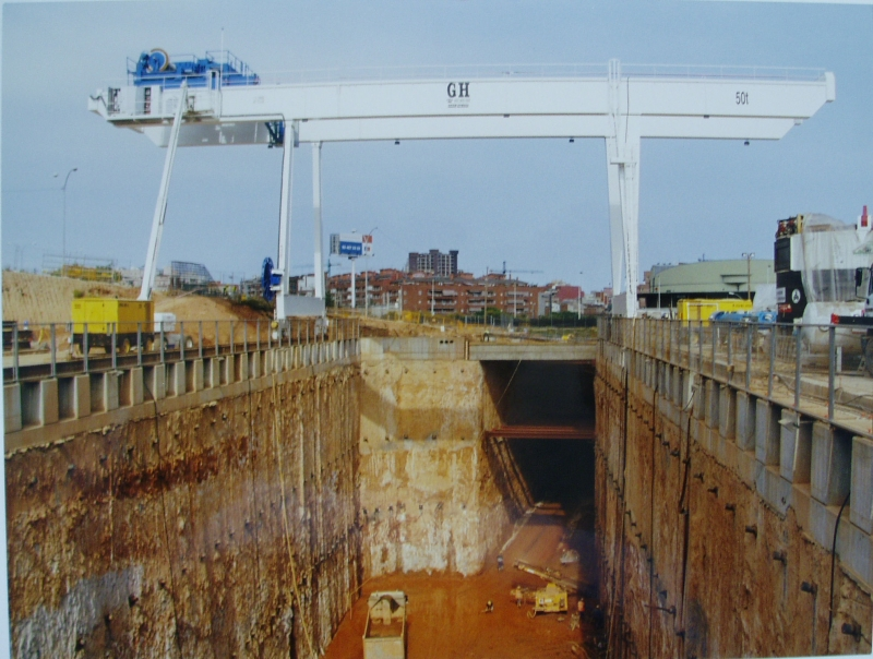 Portique  50T sur chantier, portique, portique Cornebarrieu